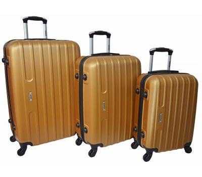 Набор чемоданов Siker Line 3 штуки золотой