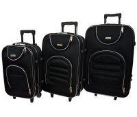 Набор чемоданов Siker Lux 3 штуки черный