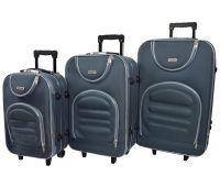 Набор чемоданов Siker Lux 3 штуки серый