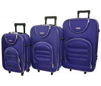 Набор чемоданов Siker Lux 3 штуки темно-фиолетовый