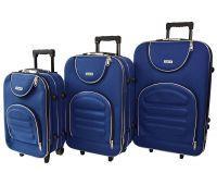 Набор чемоданов Siker Lux 3 штуки темно-синий
