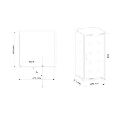 Стеклянная душевая кабина AVKO Glass 1424 90x90x190 Clear