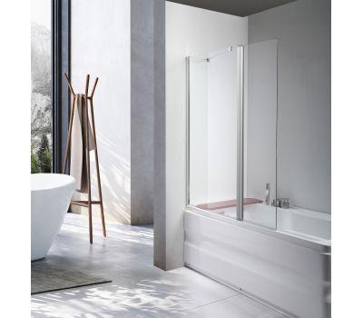 Стеклянная шторка для ванны AVKO Glass 542-1 40+80x140 Clear