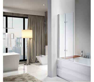 Стеклянная шторка для ванны AVKO Glass 647 120x140 Clear