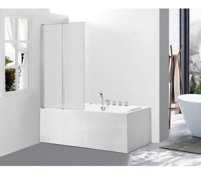 Стеклянная шторка для ванны AVKO Glass 542-2 120x140 Frosted