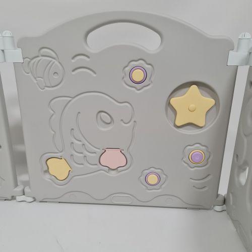 Детский игровой манеж AVKO AHC-008 8+2 Grey/Yellow