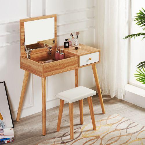 Туалетный столик + табурет AVKO ADT 004 White