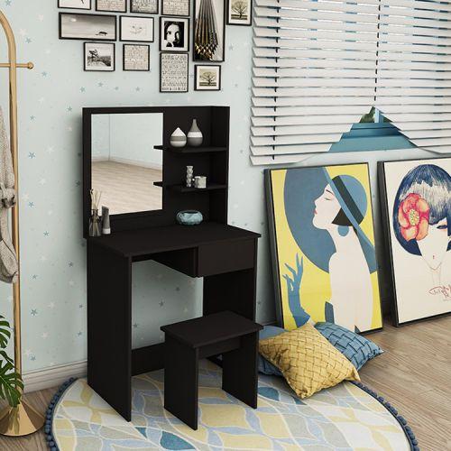 Туалетний столик + табурет AVKO ADT 005 Black