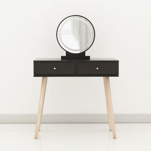 Туалетный столик + табурет AVKO ADT 008 Black LED подсветка