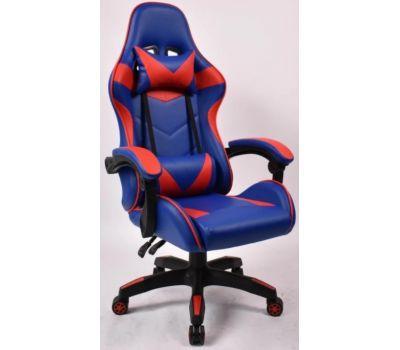 Кресло геймерское Vecotti GT Blue с подставкой сине-красное