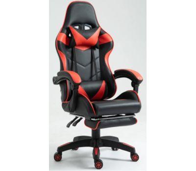 Кресло геймерское Vecotti GT Red с подставкой черно-красное