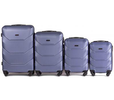 Набор дорожных чемоданов Wings Peacock 147 4 штуки аметистовый