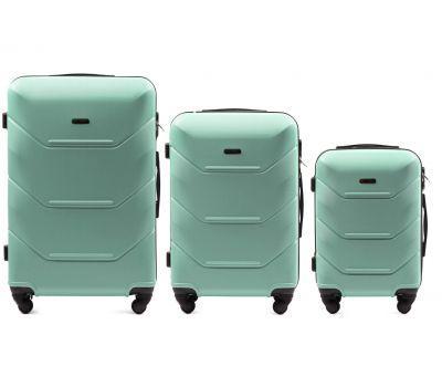 Набор дорожных чемоданов Wings Peacock 147 3 штуки мятный