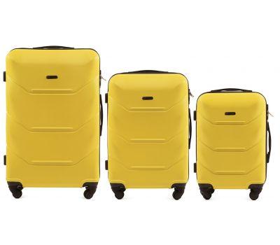 Набор дорожных чемоданов Wings Peacock 147 3 штуки желтый