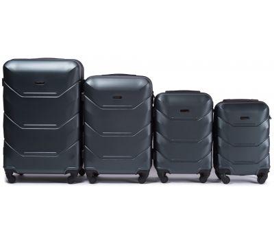 Набор дорожных чемоданов Wings Peacock 147 4 штуки изумрудный