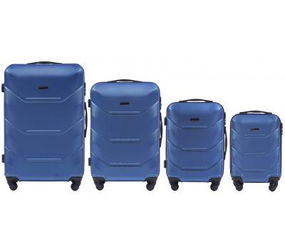 Набор дорожных чемоданов Wings Peacock 147 4 штуки middle blue