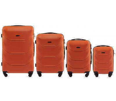 Набор дорожных чемоданов Wings Peacock 147 4 штуки оранжевый