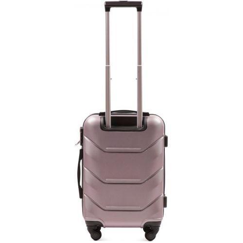 Набор дорожных чемоданов Wings Peacock 147 3 штуки розовое золото