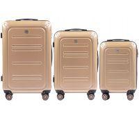 Набор чемоданов из поликарбоната Wings Imperial 175 3 штуки шампань