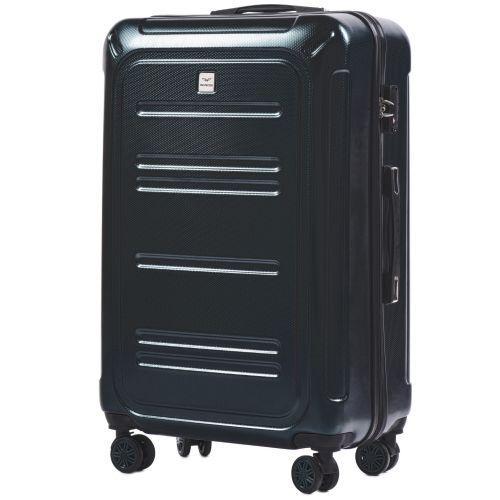 Набор чемоданов из поликарбоната Wings Imperial 175 3 штуки изумрудный