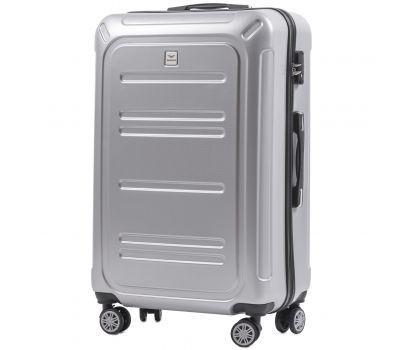 Поликарбонатный чемодан Wings Imperial 175 большой серебряный