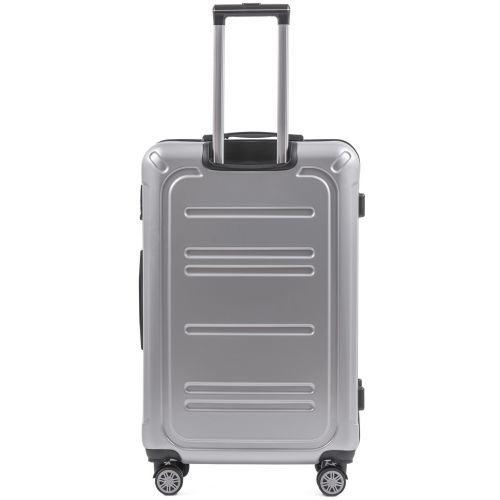 Набор чемоданов из поликарбоната Wings Imperial 175 3 штуки серебряный