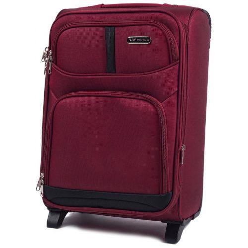 Набор чемоданов Wings 206 3 штуки на 2-х колесах бордовый