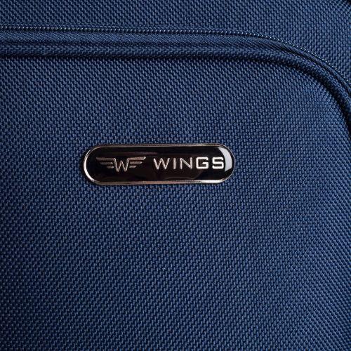 Чемодан Wings 206-2L большой на 2-х колесах синий