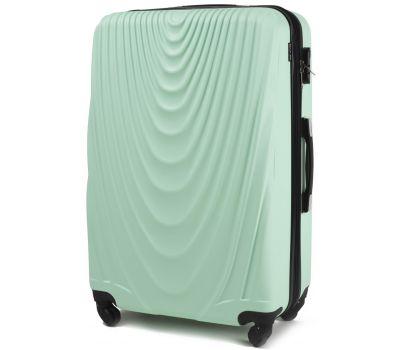 Пластиковый чемодан на колесах Wings 304 большой мятный