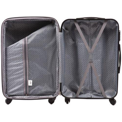 Пластиковый чемодан на колесах Wings 304 средний мятный