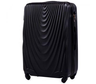 Пластиковый чемодан на колесах Wings 304 большой черный