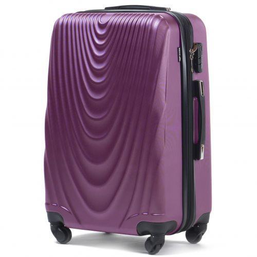 Набор чемоданов на колесах Wings 304 3 штуки фиолетовый