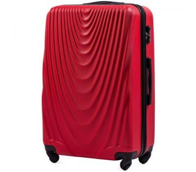 Пластиковый чемодан на колесах Wings 304 большой красный