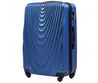 Пластиковый чемодан на колесах Wings 304 большой middle blue