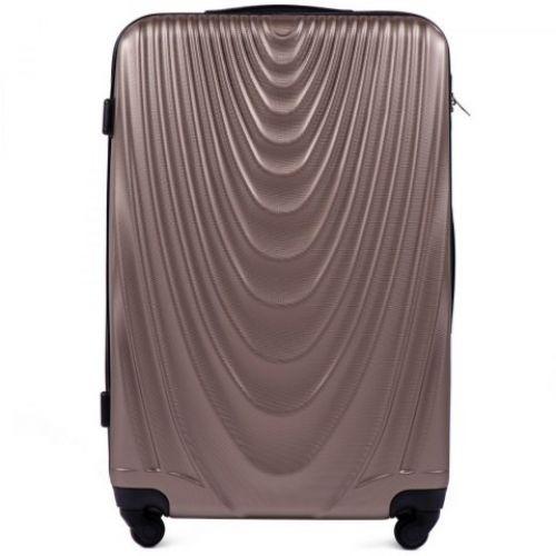 Пластиковый чемодан на колесах Wings 304 большой шампань