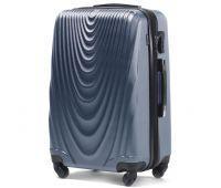 Пластиковый чемодан на колесах Wings 304 большой синий