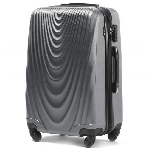 Набор чемоданов на колесах Wings 304 3 штуки серый