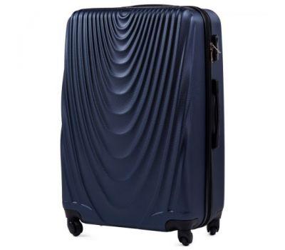 Пластиковый чемодан на колесах Wings 304 большой темно-синий