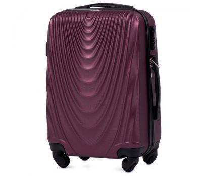 Пластиковый чемодан на колесах Wings 304 маленький бордовый