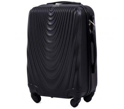 Пластиковый чемодан на колесах Wings 304 маленький черный