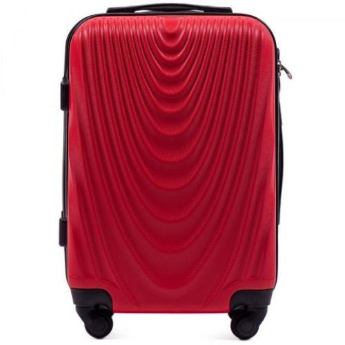 Пластиковый чемодан на колесах Wings 304 маленький красный