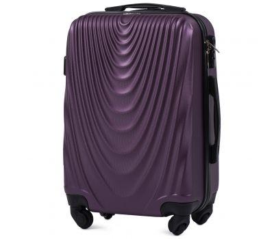 Пластиковый чемодан на колесах Wings 304 маленький фиолетовый