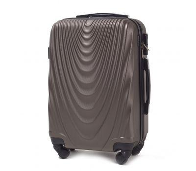 Пластиковый чемодан Wings 304 мини ручная кладь кофейный