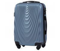 Пластиковый чемодан на колесах Wings 304 маленький синий