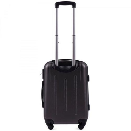 Пластиковый чемодан на колесах Wings 304 маленький серый