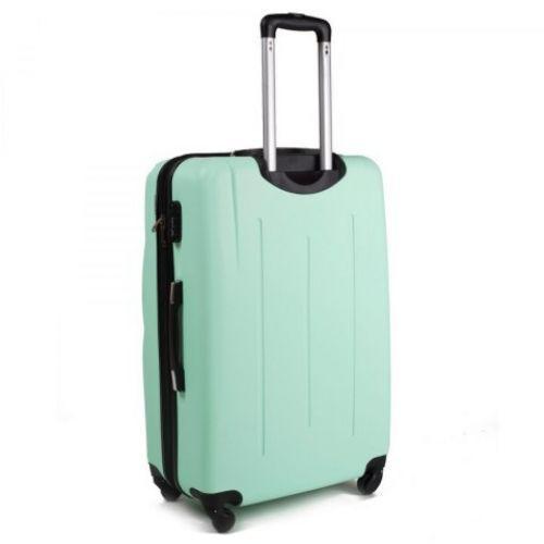 Набор чемоданов на колесах Wings 304 3 штуки голубой
