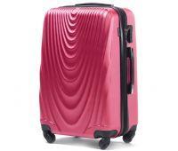 Пластиковый чемодан на колесах Wings 304 средний розовый