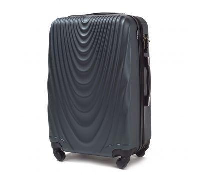 Пластиковый чемодан на колесах Wings 304 средний изумрудный