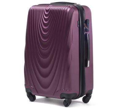 Пластиковый чемодан на колесах Wings 304 средний фиолетовый