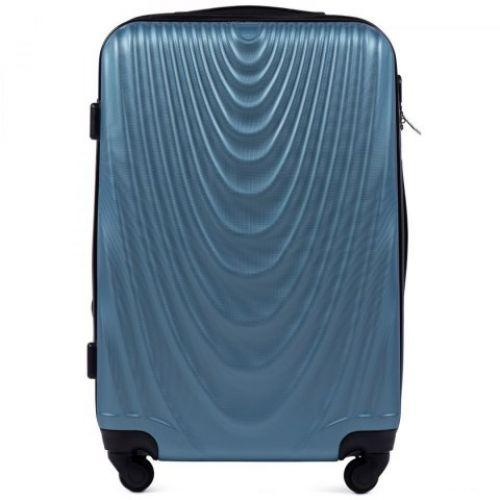 Пластиковый чемодан на колесах Wings 304 средний синий